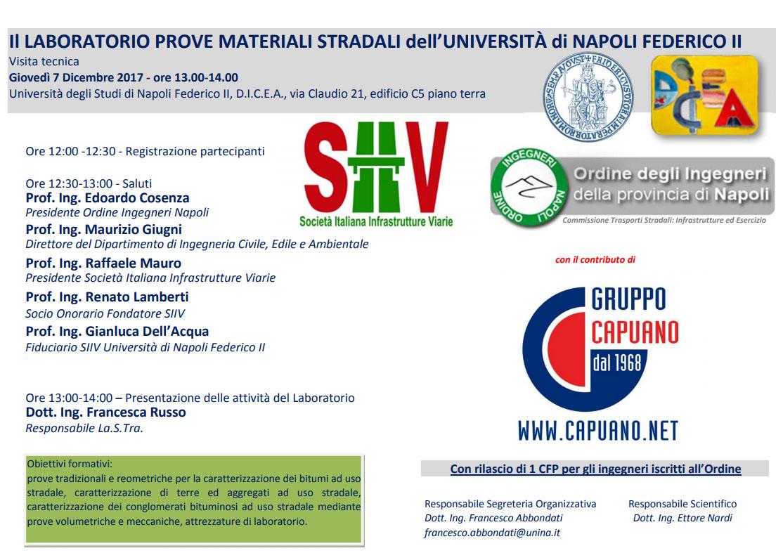 Il Laboratorio prove materiali stradali dell'Università di Napoli Federico II